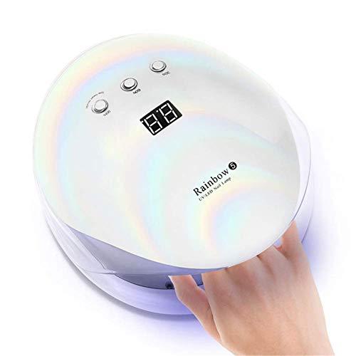 絞る感心する気体の36ワットuv ledネイルランプジェルポリッシュネイルドライヤースマートセンサータイマープロフェッショナル液晶画面マニキュアランプネイルアートツール