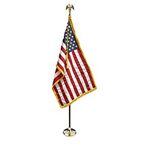 3x5 U.S. American Indoor Flag Pole Parade Set/Kit