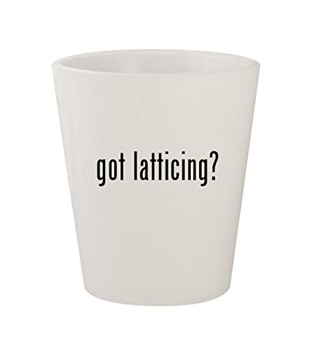 got latticing? - Ceramic White 1.5oz Shot - Cedar 4x8 Lattice