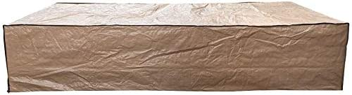 Super Patio Outdoor Patio Furniture Set Cover, Brown Waterproof Dust Resistant Cover Fits for 7 Piece Patio Sofa Set, 114 L x 60 W x 24 H