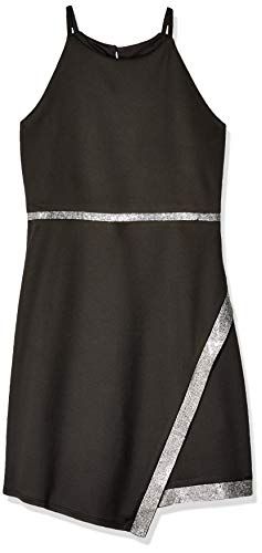 Amy Byer Girls' Big Sparkle Hem Party Dress, Black S