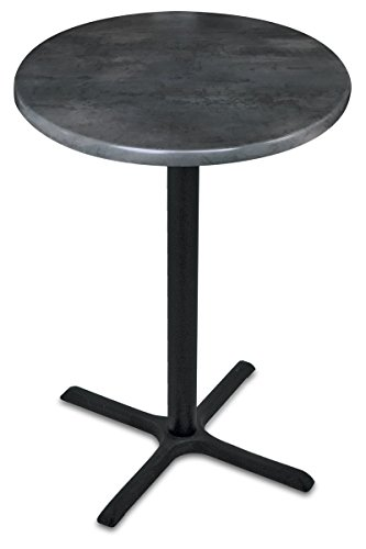 (Holland Bar Stool Co. OD211-3042BWOD36RBlkStl OD211 Outdoor Table, Black Steel)