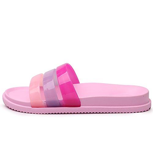 VILOCY Unisex Lightweight Shower Pool Slide On Sandals Pink S5qOSI