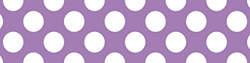 Paper Trimmer 36' Cut (Schoolgirl Style Rolled Straight Borders, Purple with Polka Dots (108325))