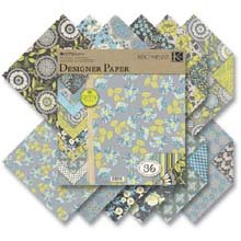"Price comparison product image K & Company Amy Butler Lotus Two Sided Paper Pad 12""X12"" Faded China K625396"