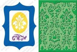 Provo Craft Cuttlebug Card Combo Dies, Damask Frame (Cuttlebug Combo Die)