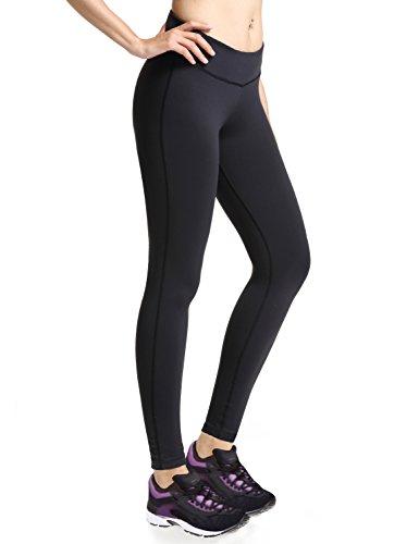 Baleaf Women's Ankle Legging Inner Pocket Non See-Through Black Size S by Baleaf (Image #3)