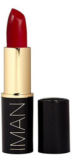 IMAN Luxury Moisturizing Lipstick, Iman Red 005 0.14 oz (4 (0.14 Ounce Luxury Lipstick)