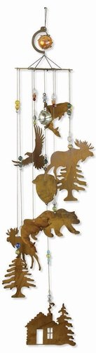 Sunset Vista Designs Wilderness Wonders Rustic Cabin Wind Chime, Large 80203