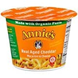 Annie's Homegrown Macaron & Cheese Real Aged Cheddar 2.01 OZ (Pack of 24)