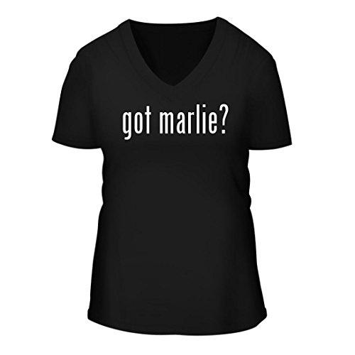 Christofle Mirror (got marlie? - A Nice Women's Short Sleeve V-Neck T-Shirt Shirt, Black, Large)