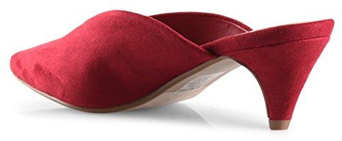 Mid Toe LUSTHAVE Farrow Heel Loafer Women's Slip Cut Sandals Cherry On Kitten Shoes V Pointy Mules ATv0w