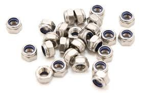 5-40 Hex Machine Screw Pattern Nylon Insert Lock Nut 18-8 Stainless Steel Package Qty 100