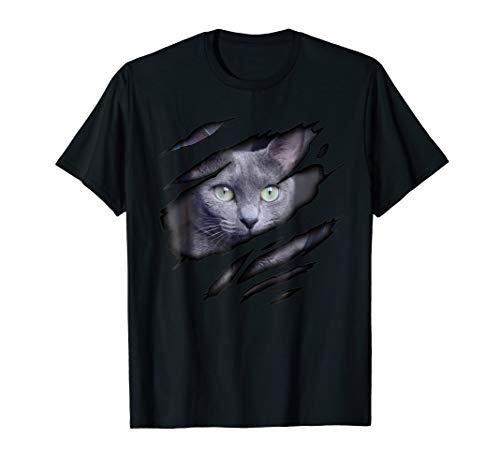 - Russian Blue Cat in me T-Shirt, Catshirt, Purebred Cat