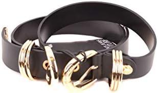 Versace Luxury Fashion Jeans Femme D8VVBF1171447899 Noir Cuir Ceinture | Printemps-été 20