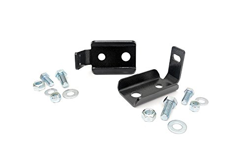 Rough Country - 1020 - Front Shock Relocation Brackets for Jeep: 07-18 Wrangler JK 4WD, 07-18 Wrangler Unlimited JK 4WD/2WD