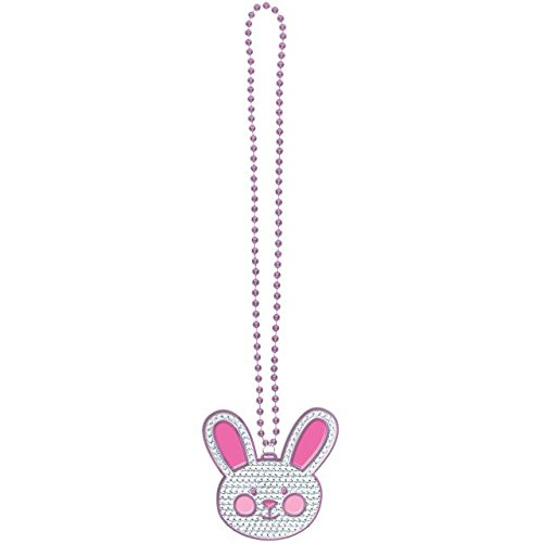 Egg-stra Glamorous Easter Bunny Bling Necklace Party Accesso