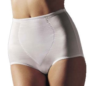 Bali Women's Moderate Control Tummy Panel Brief, White, 3X-Large