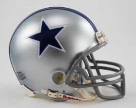 Riddell Dallas Cowboys 1964-66 Throwback Replica Mini Helmet w/ Z2B Face Mask