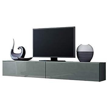 Jadella TV Board Lowboard Migo Hngeschrank Wohnwand 180cm Grau Matt Hochglanz