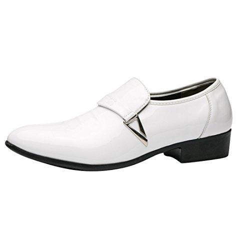 Hombre de Blanco Bandas Cordones de Zapatos de Hombre Bajos Cuero Casuales Oxfords Zapatos Zapatos Vestir qianchuangyuan de Zapatos Zapatos PU Zapatos de Para Hombre 8Sq0gwq