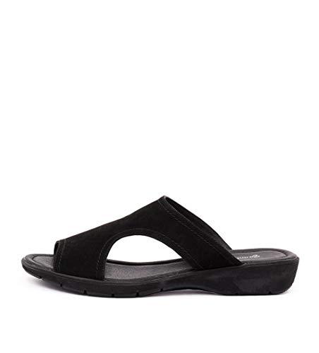 Heels Summer Womens nubuck Black GAMINS Shoes Wedges Medium KASHANT Black qwO1YaX