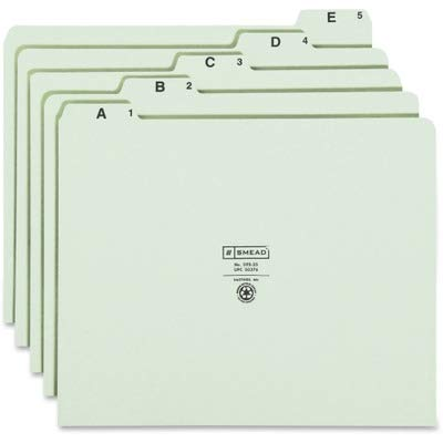 SMD50376 - Smead Pressboard Guides, Alphabetic Indexed Sets