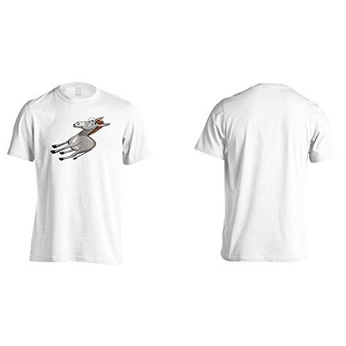 Neuer Esel Glückliches Lächeln Herren T-Shirt l320m