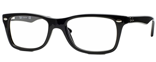 Ray-Ban RX5228 Eyeglasses (50 mm, Shiny Black Frame) by Ray-Ban