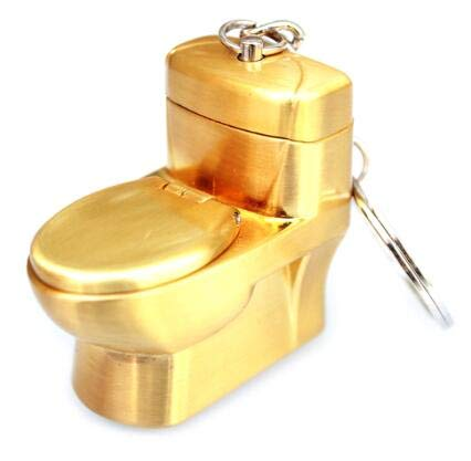 Fire Starter - Mini Creative Butane Lighter Cute Simulation Flush Toilet Model Fire Starter Keychain Ring - Lotion Leaf Wd-da29-00020b Award Butan Bulbs Chain Theft Bomb Gems Ring Peach Shape
