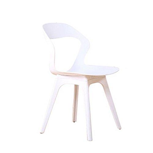 Kays Taburetes Taburetes, taburetes, sillas, Patas de Madera para ninos, mesas de Comedor, sillas, taburetes de plastico, sillas de plastico, sillas de cafe Taburetes de Bar (Color : White)