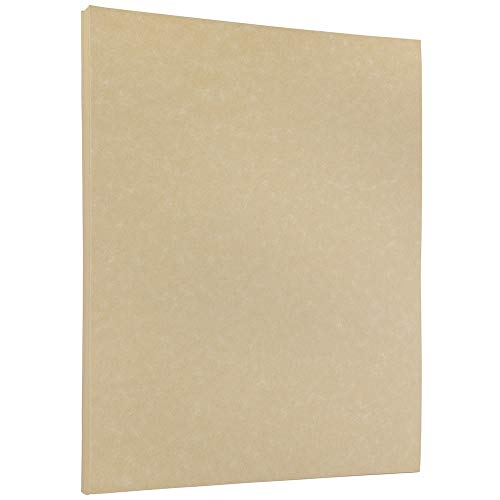 JAM PAPER Parchment 24lb Paper - 8.5 x 11 - Natural Recycled - 50 - 24 Lb Cream Writing