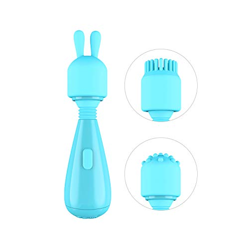 iWISP Mini Personal Massager w/Interchangeable Heads, Waterproof Skin-Soft Silicone