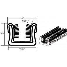 - CRL 21116432061 1/2; x 3/8; Unbeaded Flexible Glass Run Channel in a 500 Foot Roll