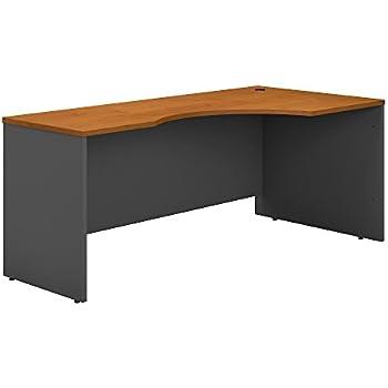 Bush Business Furniture Series C 72W Right Handed Corner Desk in Natural Cherry