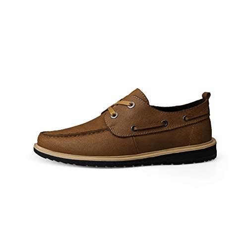 Negocios Hombres Los Ligero Redonda Cabeza Whl Antideslizante Vela Acogedor Lazo Ocio Zapatos Lightbrown De Delantero Solos ll Rw7xxqEtv