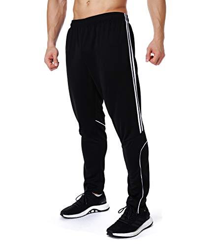 RIOJOY Traning Sweatpants Stretch Trousers Men's Athletic Running Track Sport Gym Pants 3 Stripe Jogger Pants