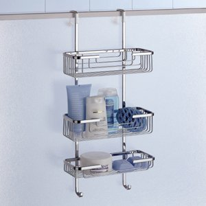 Gedy 5684 Door Triple Shower Basket, Chrome