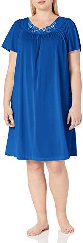 Shadowline Women's Plus-Size Petals 40 Short Flutter Sleeve Waltz