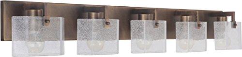 - Craftmade 47605-PAB Trouvaille Vanity Wall Lighting, 5-Light, 300 Watts, Patina Aged Brass (43
