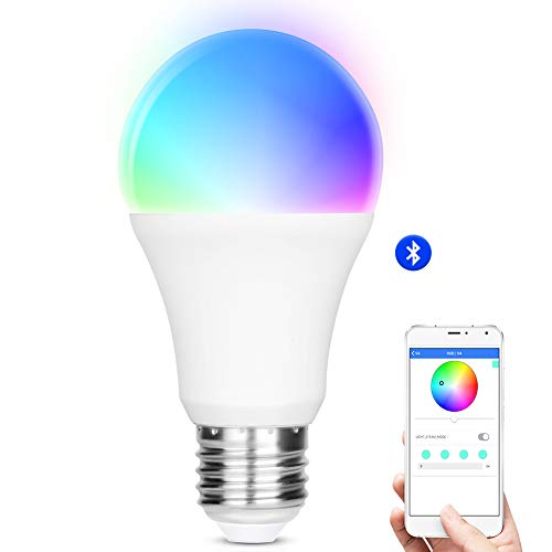 iLintek Smart LED Light Bulb,Multicolored Dimmable,Bluetooth App Group Controlled,Party Disco Color Changing,9W-Equivalent 60w,2700K-6500K Color,No Hub Required,Sunrise Wake Up Night Light(A19) Review