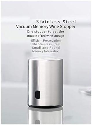 Decantador de vino de cristal hecho a mano, Abridor de botellas de vino eléctrico, conjunto de sacacorchos de vino automático, aireador de vino de acero inoxidable aireador, tapón de vacío y cortador