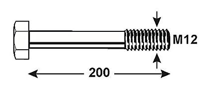 1000 g KL4081160 verzinkt DIN 931 Connex Sechskantschrauben M10 x 160 mm