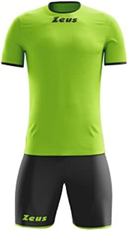 Kit Zeus Sticker Giallo-Verde Completino Completo Calcio Calcetto Muta Torneo Scuola Sport