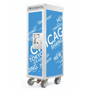 Skypak Flugzeugtrolley, Airport Cities, Farbe: Skyblue