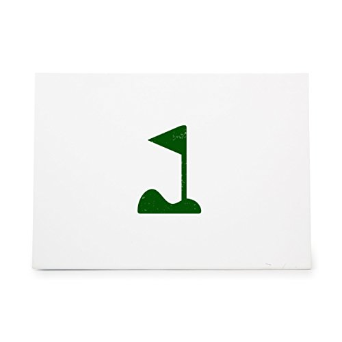 Golf Ball Club Course Flag Style 7362, Rubber Stamp Shape great for Scrapbooking, Crafts, Card Making, Ink Stamping Crafts