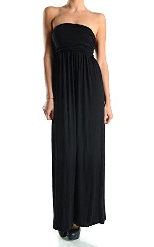 Ola Mari Strapless Side Shirred Tube Maxi Dress, Small, (Cebra One Light)