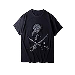 Rhinestone Casual Crewneck T-Shirt