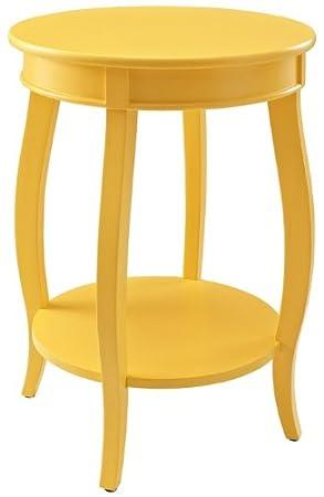 Elegant Amazon.com: Powell Furniture Round Table With Shelf, Yellow: Kitchen U0026  Dining