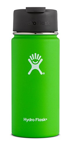 Hydro Flask 16 oz Double Wall Vacuum Insulated Stainless Steel Water Bottle / Travel Coffee Mug, Wide Mouth with BPA Free Hydro Flip Cap, Kiwi